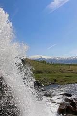 Waterfall with Eyjafjallajkull (_Martl_) Tags: canon eos 70d canon18135mm iceland island vulkan volcano water waterfall sky outdoor eyjafjallajkull wasserfall