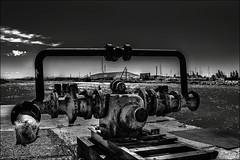 Sans espoir... (vedebe) Tags: city bw mer monochrome architecture port eau noiretblanc nb rue ports ville usine fleuve urbain urbex abandonn netb