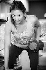 (Wolfdog Photography) Tags: blackandwhite fitness lifting dumbell fitchicks doyouevenlift