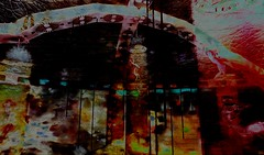 Glass ceiling / Artist : Frankx Lefavre (Bamboo Barnes - Artist.Com) Tags: blue light shadow red green art yellow painting photo digitalart vivid surreal secondlife installation lea virtualart bamboobarnes frankxlefavre