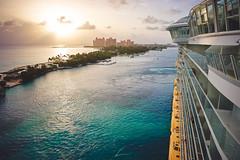 Arrival of Paradise (CL Photographs) Tags: morning cruise blue sky color water lines sunrise island cool aqua warm paradise ship teal magic royal line atlantis oasis caribbean bahamas nassau seas