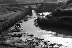 Seaton Sluice Harbour, B&W, Northumberland, England, UK, 5/2016 (SteveT0191) Tags: uk england bw flickr northumberland seatonsluice geolocated
