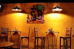 """Quiere un Tequila, Senorita"" ? (Ahsan. (Back for short time)) Tags: light night restaurant alone bright empty tequila senorita"