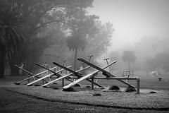 Juegos solitarios (Diego Serra) Tags: parque fog children juegos nios niebla
