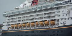 Orange life (quintinsmith_ip) Tags: sea people river fun ship down tourist disney passenger passing shipping southshields waltdisney disneymagic rivertyne