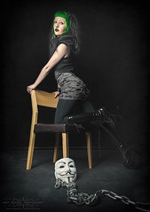 No Darkness Without Light (Alex Burnell Photography) Tags: dark gothic gothicgirl model female portrait anonymous mask boots photography
