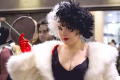 A Deep Passion for Fur (l plater) Tags: cosplay sydneyolympicpark mrskinner onehundredandonedalmatians cruelledevil supanovaexposydney2016