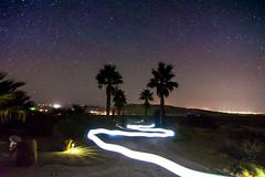 Winding LIght Stream (Jordan Jozwiak) Tags: city longexposure trees summer lightpainting nature night stars landscape outdoors lights outdoor lightstream