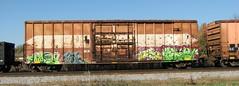 10-08-10 (7) (This Guy...) Tags: road railroad car train graffiti box graf rail rr traincar boxcar graff 2010