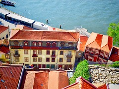 down below (ekelly80) Tags: porto portugal june2016 summer ribeira vilanovadegaia view scenery lookdown below buildings houses architecture river douroriver water