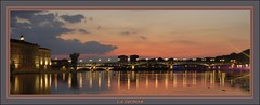 Toulouse - La Garonne (Photogenic31.) Tags: {ajoutezvosmotsclésenlesséparantpardespointsvirgules} toulouse nuit soirée garonne pont coucherdesoleil ville urbain eclairagepublic nikon d2xs d7000 d