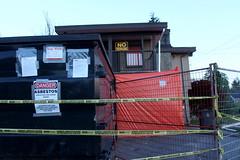 warning signs (danna  curious tangles) Tags: bc surrey asbestos stopwork