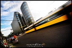 Traffic - Friedrichstrae (Krueger_Martin) Tags: berlin yellow architecture speed colorful traffic tram sigma wideangle gelb architektur verkehr farbig hdr bunt bvg weitwinkel photomatix friedrichstrase ultraweitwinkel spreedreieck canoneos5dmarkii canoneos5dmark2 sigma1224mmexdghsm