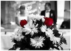 boda (fer_carrasco) Tags: boda flores bw color selectivo
