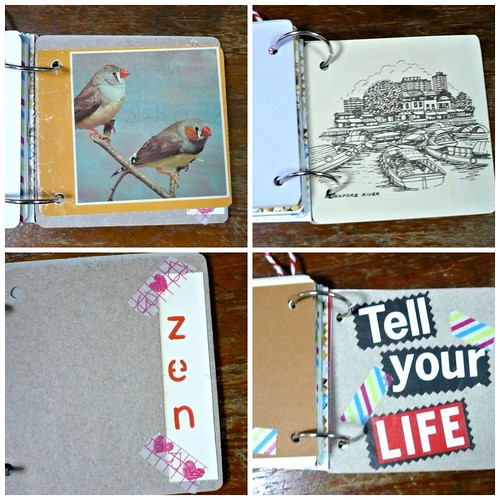 Mini Junk Journal Mixed Paper Book