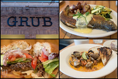 Grub (WordOfMouth) Tags: restaurant queenanne chorizo trout clams grub lambburger