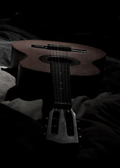 Left in the dark (DClarke2009) Tags: music guitar sony flash instrument lowkey lightroom offcameraflash sonyalpha sonyalpha200 triggeredflash