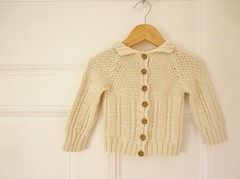 Baby Maui (gingergooseberry) Tags: baby knitting cream cardigan cardi 2013 ravelry