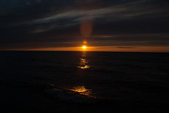 Lake Superior Sunset, Darker (schandle) Tags: sunset michigan lakesuperior calumet waterworkspark