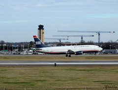US Airways ~ Boeing 737-4B7 ~ N439US (jb tuohy) Tags: plane airplane airport charlotte aircraft aviation jet aeroplane airline boeing 737 usairways g11 b737 clt 2013 kclt n439us jbtuohy