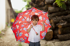 Portrait of a small boy holding an umbrella (Nasos Zovoilis) Tags: life park family autumn trees summer two portrait people woman white cute fall nature wet girl beautiful beauty smile face grass rain weather childhood smiling modern female youth standing umbrella walking outside outdoors happy person kid spring healthy alley toddler colorful pretty child view adult natural boots little outdoor path walk small young rubber jeans blond blonde rest casual positive persons relaxation multicolor wellingtons exteriors
