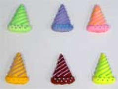 Party Hats assorted size 3cm (sweetinspirationsaustralia) Tags: cupcaketoppers