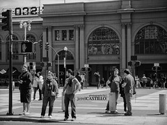 Ferry Building SF (CaselxASD) Tags: sf sanfrancisco street people bw panasonic bayarea ferrybuilding exploratorium gx1