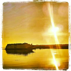 Morning sunshine (martyw1705) Tags: sun water ship po tt isleofman larne 2013 michaeldunlop highspeedcraft instagram flickrandroidapp:filter=none