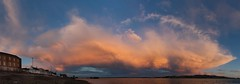 Panorama 12th June 3-1200x420 (Ken Bushe) Tags: sunset sky panorama cloud beach ferry pebble broughty
