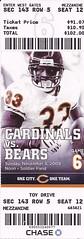 Arizona Cardinals vs. Chicago Bears, 2009 (Brule Laker) Tags: tickets football nfl chicagobears soldierfield arizonacardinals