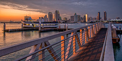 San Diego View (mojo2u) Tags: california sunset ferry skyline bay harbor ramp cityscape sandiego coronado boatdock sandiegoskyline nikon2470mm nikond800