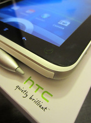 HTC Flyer tablet with stylus
