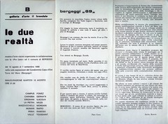 1969-LE SUE REALTA'-GALLERIA D'ARTE IL BRANDALE-BARGEGGI