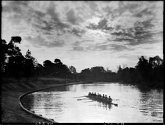 Rowers on the River Torrens (State Records SA) Tags: blackandwhite photography australia adelaide historical southaustralia rowers rivertorrens frankhurley srsa staterecords staterecordsofsouthaustralia staterecordsofsa