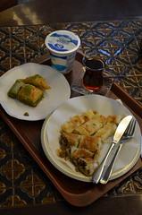 Gulluoglu lunch (~Maninas) Tags: travel turkey lunch nikon tea august istanbul turkishfood baklava turkishtea borek gulluoglu ayran 2013 maninas d5100 august2013