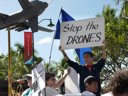 From flickr.com: Stop Drone Warfare {MID-145610}