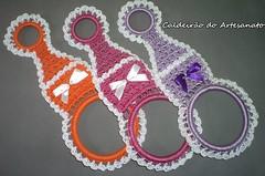 Porta Pano de Prato (Caldeirão do Artesanato) Tags: crochet trabalhosmanuais artesanatoparacozinha portapanodepratoefosforo