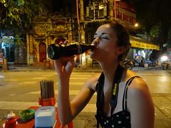 (katlinsilm) Tags: city girl night lights vietnam cocacola hanoi thirst