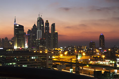 Dubai Sunset (Ali Sabbagh) Tags: road longexposure sunset urban night canon landscape lights dubai traffic uae dxb blinkagain