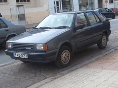 Hyundai Pony (occama) Tags: old blue car malta korean pony showroom hyundai 1980s immaculate condition
