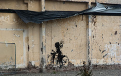 Riding By (Jocey K) Tags: newzealand christchurch art wall tag nz
