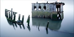 The Idle Ship (Murphyboy999) Tags: docks boat long exposure sunken wreck grimsby