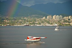 To Wild Homes (4oClock) Tags: city travel blue red orange sun canada west green water yellow vancouver plane de airplane one 1 rainbow nikon wake bc power waterfront place purple pacific harbour yacht air centre north transport violet columbia september beaver adventure convention british van monday nikkor float luxury mountians moria d90 dhc2 havilland 2013 18105mm nwa13