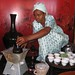 This woman is preparing the coffee for the traditional Ethiopian Coffee Ceremony