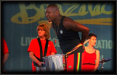 Stage presence (* RICHARD M (5 million views)) Tags: street music liverpool candid stage performance bald festivals entertainment drummer entertainer drumming shavedhead candids performer beefcake merseyside williamsonsquare capitalofculture europeancapitalofculture brazilica stagepresence cityofmusic brazilica2012
