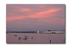 Postcard (P. Calvinho) Tags: sunset espaa portugal canon spain espanha prdosol algarve 70300mm tamron guadiana ayamonte 500d andaluzia vrsa rioguadiana