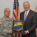 NBA Legend Jerry West visits the Presidio to speak with service members.