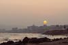 When the sun has set, no candle can replace it (rvgpl) Tags: sunset orange sun beach landscape rocks vizag visakhapatnam vsco vscofilm