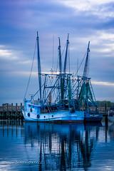 RavenelBridge (ready2foto2) Tags: bridge sunset georgia charleston shrimpboats ravenel