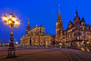 Hofkirche zu Dresden (TIM BRUENING · PHOTOGRAPHY) Tags: architecture germany deutschland dresden saxony sachsen architektur bluehour altstadt schlossplatz nachtaufnahme katholisch historicdistrict langzeitbelichtung hofkirche longtimeexposure blauestunde sakralbauten flickraward canon5dmarkii tse17mm flickrtravelaward rememberthatmomentlevel4 rememberthatmomentlevel1 rememberthatmomentlevel2 rememberthatmomentlevel3 chapelroyaldresden